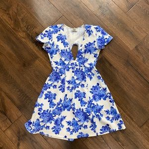 Show me your mumu floral mini dress